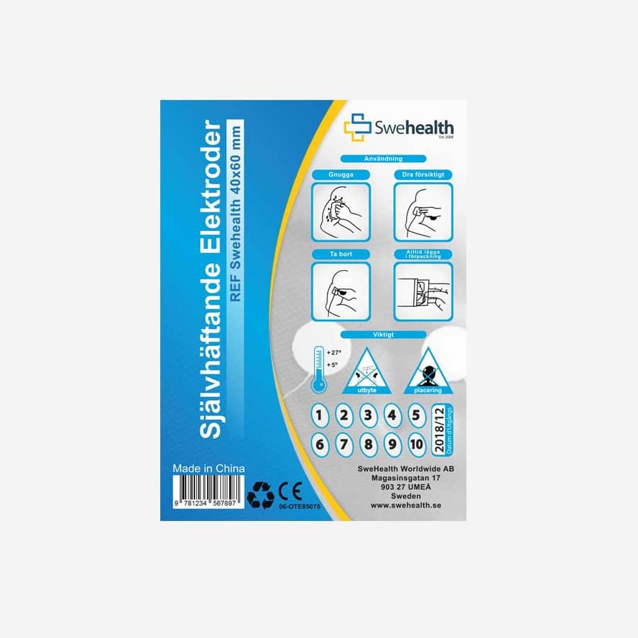 TENS självhäftande elektroder