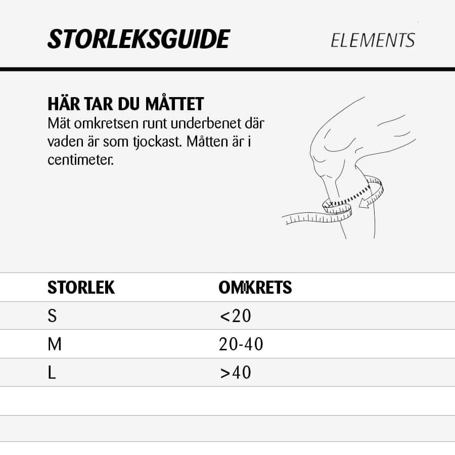 Elements Stretch-Up Sock Storleksguide