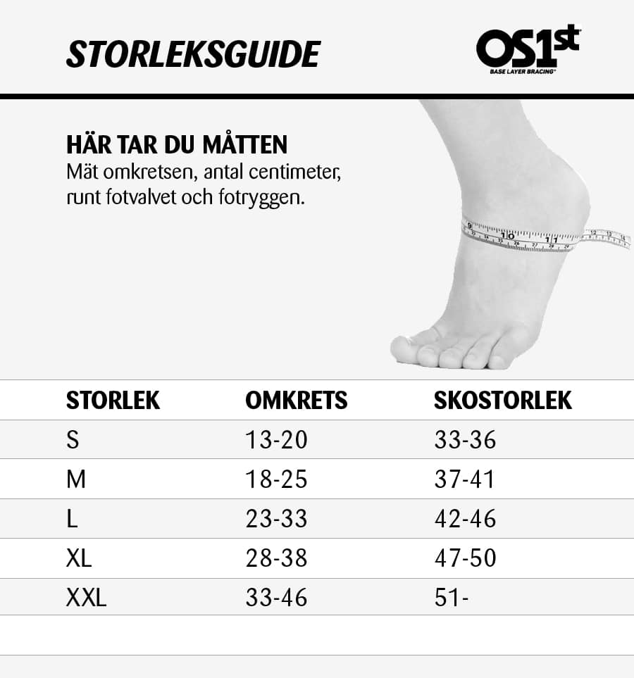 OS1st FS6 Storleksguide